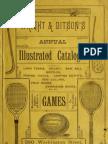 Wright & Ditson ~ Sports Catalog ~ 1884