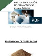 IV UNIDAD PROCEDIMIENTO DE ELABORACIÓN DE FORMAS FARMACÉUTICAS