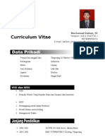 CV Muhamad Dahlan New
