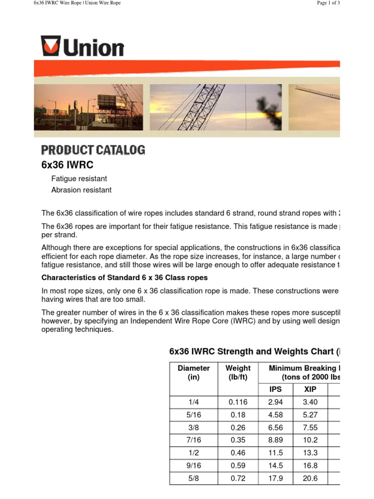 unionrope.com_product-catalog_6x36-IWRC.pdf | Rope | Wire
