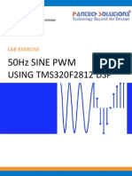 50hz Sine Pwm Using Tms320f2812 Dsp