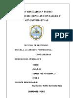 Modulo N° 8 - SEMINARIO DE TESIS I - 2013- I - II-Contabilidad - U SAN PEDROUltimoZ