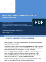 Indonesian Experience Toward Targeted Social Assistance Reform
