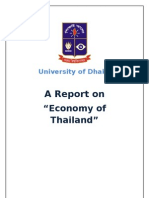 Report ON THAILAND DEVELOPING ECONOMY