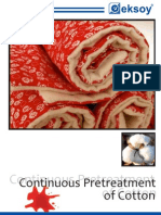 Continious Pretreatment of Cotton