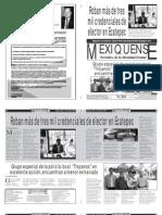 Versión impresa del periódico El mexiquense  11 julio 2013