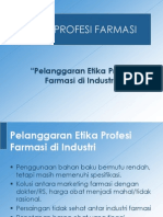 Pelanggaran Etika Farmasi Di Industri