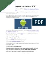 Mis Primeros Pasos Con Android SDK