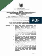 Peraturan Menteri Negara Perencanaan Pembangunan Nasional/Kepala Bappenas Nomor 3 Tahun 2009 tentang Tata Cara Penyusunan Daftar Rencana Proyek Kerjasama Pemerintah dengan Badan Usaha dalam Penyediaan Infrastruktur