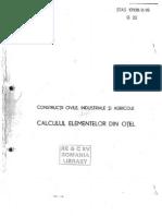 Calculul Elementelor Din Otel - STAS 10108