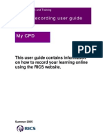 CPD. Online Recording User Guide