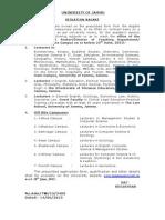 Notification JAmmu University Lecturer Posts