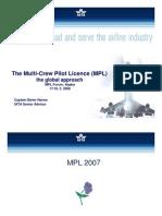 The Multi-Crew Pilot Licence (MPL)