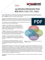 Laboratory tests for waste water
