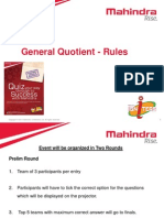 General Quotient - Rules