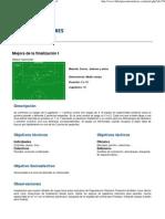 Fútbolparaentrenadores - Mejora de la finalización I