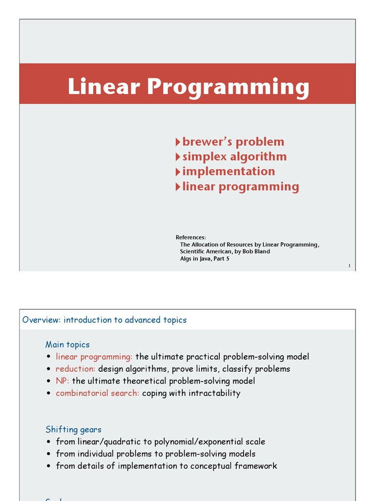 PPT on Linear Programming | Linear Programming | Mathematical