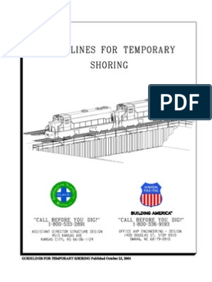 AREMA Shoring Guidelines | Deep Foundation | General Contractor