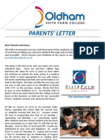 OSFC Parents Newsletter 2013