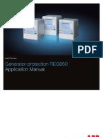 1mrk502033-Uen - En Application Manual Generator Protection Reg650 Iec