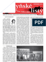 Radyňské Listy, Starý Plzenec, Červenec 2013