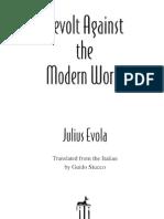 Julius Evola Revolt Against the Modern World Cut