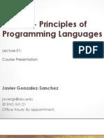 Principles of Programming Languages | ASU 2014