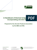 A Handbook of Thermal Bridging Details Incorporating Aircrete Blocks - Book 1