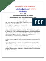 MB0038–Management Process and Organizational Behaviour
