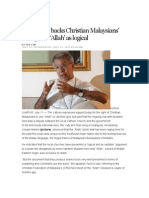 Vatican Backs Christian Malaysians