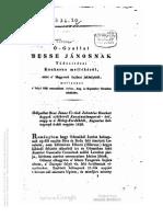 Ó-gyallai Besse Jánosnak tudositásai Kaukasus mellékéről 1829.