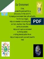 yr 2 our environment prayer