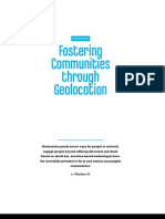 Fostering Communities Through Geolocation