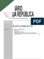 Despacho normativo 7-A2013-Introduz normas relativas à distribuição do serviço aos docentes de quadro para o ano letivo de 2013-2014