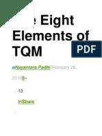 8 Elements of TQM