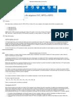 Visão geral dos sistemas de arquivos FAT, HPFS e NTFS