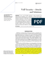 VoIP Security Attacks Ans Solutions