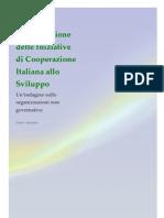 La Valutazione delle Iniziative di Cooperazione Italiana allo Sviluppo