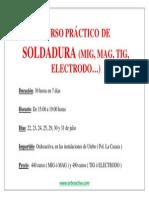 Cartel Resumen Curso Soldadura TIG, TAG, MAG, Electrodo 30 horas