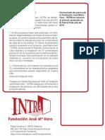 Noticias2013 Comunicado de Prensa El Pais