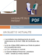 Qual It e Dossier Patient