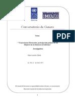 Trayectorias Electorales, participación política de las Mujeres en la democracia boliviana