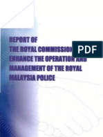 2005 Royal Commission Report on Malaysian Police