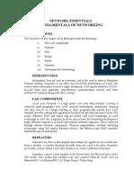 NETWORK ESSENTIALS  FUNDAMENTALS OF NETWORKING
