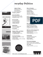 Duke University Press Program Ad for 2013 American Political Science Association