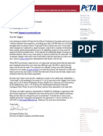 Letter from PETA to MLB's Tampa Bay Rays