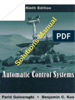 Automatic Control Systems 9Ed Kuo Solution Manual