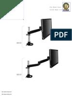3m Single Swivel Monitor Arm 4 1 2 x 25-1-2 Bl Manual