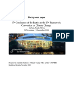 Paper on the Durban climate change talks