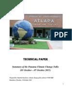Summary of the Panama climate change talks